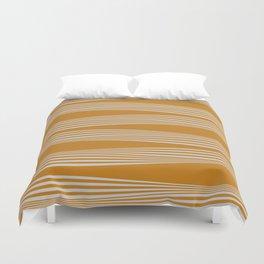 Wavy Stripes // Goldenrod Duvet Cover