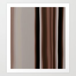 Ombre Brown Earth Tones Art Print