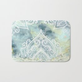MANDALA ON MARBLE Bath Mat