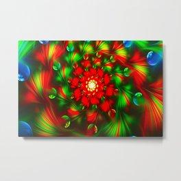 Abstract Fractal Bubbles Vortex Metal Print