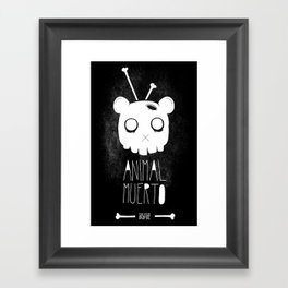 Animal Muerto Framed Art Print