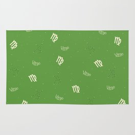 Virgo Pattern - Green Rug