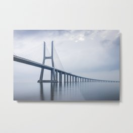 Vasco da Gama Bridge Metal Print