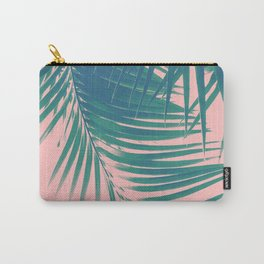 Palm Leaves Blush Summer Vibes #2 #tropical #decor #art #society6 Carry-All Pouch