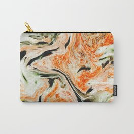 Modern orange and green marble Carry-All Pouch