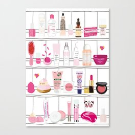 The Pink Top Shelf Canvas Print
