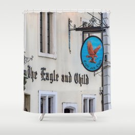 Eagle and Child Pub Oxford England Shower Curtain