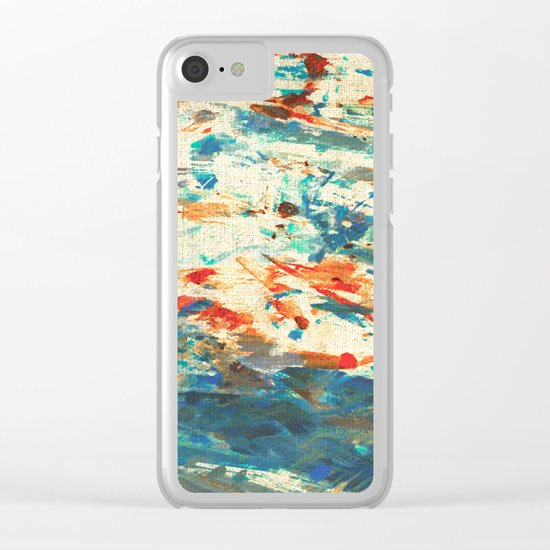 Running in the Rain Clear iPhone Case