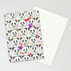 splatter pop panda cookies Stationery Cards