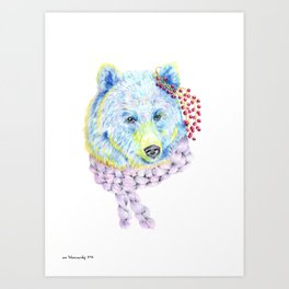 Forest Animals series - Bear Art Print