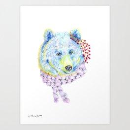 Forest Animals series - Bear Art Print