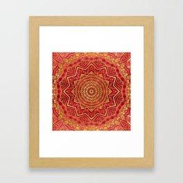 Ruby Red Mandala Framed Art Print