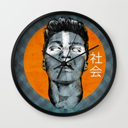GRITTY SMILE Wall Clock