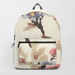 Pink & Blue Vintage Floral Design Backpack