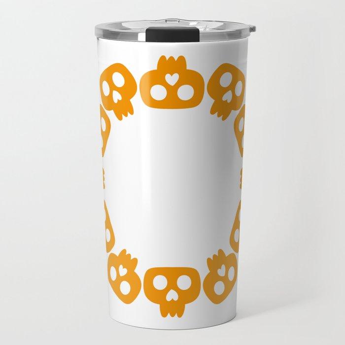 Skeletons monogram frame Travel Mug