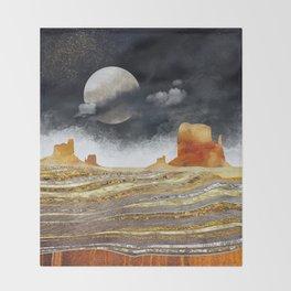 Metallic Desert Throw Blanket