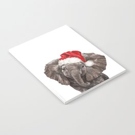 Christmas Baby Elephant Notebook