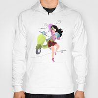 vespa Hoodies featuring Vespa by Tora Nami