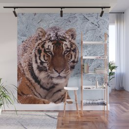 Tiger and Snow Wall Mural
