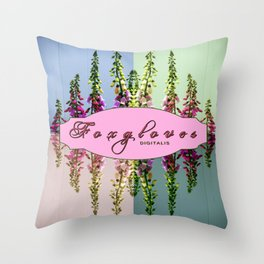Foxglove Digitalis X4 Throw Pillow