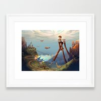 sandman Framed Art Prints featuring Sandman by Maxime Lebrun