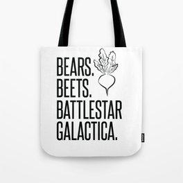 Bears Beets Battlestar Galactica Tote Bag
