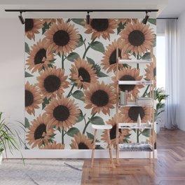 terracotta sunflowers Wall Mural