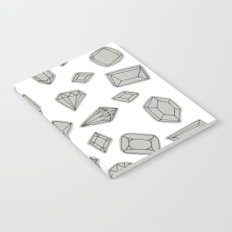 doodle crystals on white Notebook