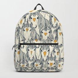 unicorn love indigo citrus pearl Backpack