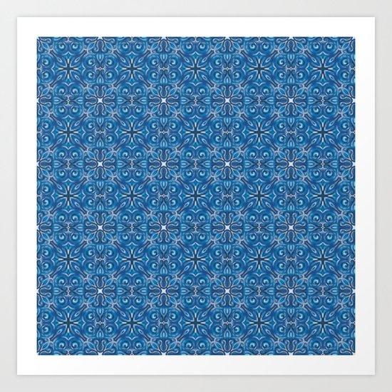 Swirls Pattern Art Print