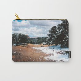 Snowy Mountain Path Carry-All Pouch