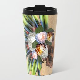 Awesome skull with feathers Travel Mug