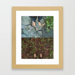Destressed Framed Art Print