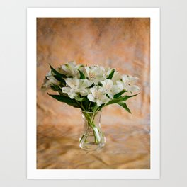 Alstroemeria Bouquet On Canvas Art Print