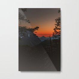 Firery Dusk Metal Print