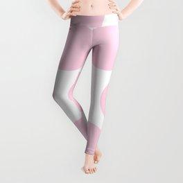 Large Polka Dots: Pink Leggings