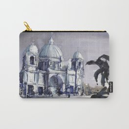 Painting of the Berlin Cathedral.  Fine art watercolor painting of Protestant Berlin Cathedral Carry-All Pouch