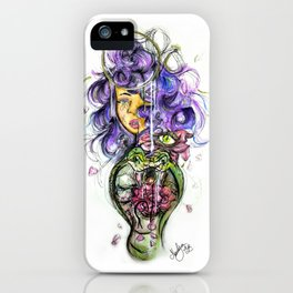Rose in bloom iPhone Case