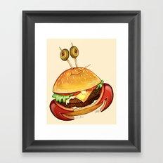Krabby patty Framed Art Print