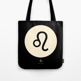 Leo Symbol Black Tote Bag