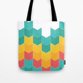 Colorful chevrons Tote Bag