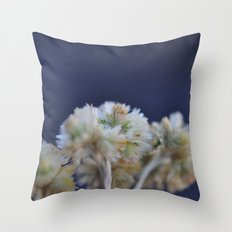 fluffy flower Throw Pillow