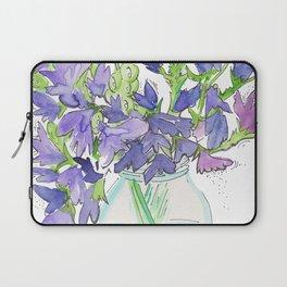 Sweet Pea Flowers Laptop Sleeve