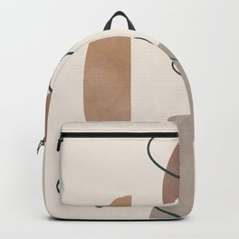 Minimal Abstract Shapes No.62 Backpack