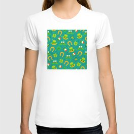 St Patrick's Day: Irish Luck Pattern T-shirt