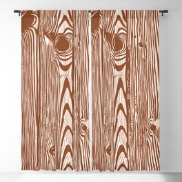 c13D Woodgrain Blackout Curtain