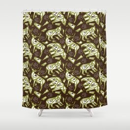 Spirit Animals Mountain - Bear - Cougar - Elk Shower Curtain