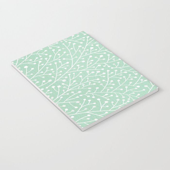 Mint Berry Branches Notebook
