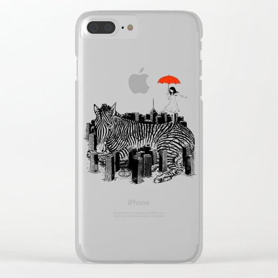 Crossing Zebra Clear iPhone Case