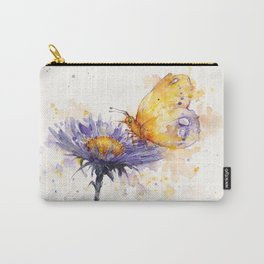 Flowers & Flutters Carry-All Pouch